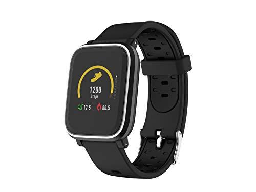 Denver Bluetooth-Smartwatch 'sw-160' mit Herzfrequenzmesser und Smart Wake-Up, Schwarz