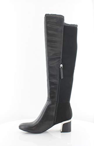 DKNY Frauen Cora Pumps Rund Leder Fashion Stiefel Schwarz Groesse 6.5 US /37.5 EU - Dkny Damen-schwarz-leder