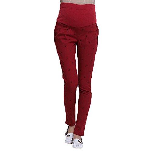 hibote enceintes Pantalons Femmes abdominales maternité haute élastiques Pantalons Leggings Belly Wine