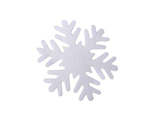 Deko-Schnee-Shop Schneeflocke aus Filz 8 cm, ca.2 mm Dick, 25er Pack (EUR 0,58/Stück), Winterdekoration, Schneeimitat