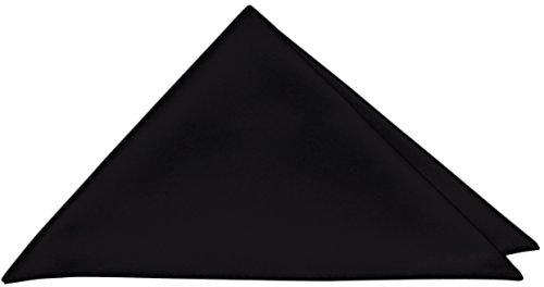 PABLO CASSINI Einstecktuch Edel Satin 27 x 27 cm Kavalierstuch Business Hochzeit (Menge: 5 Stück, Schwarz) (Schwarz 5 Anzug Stück)
