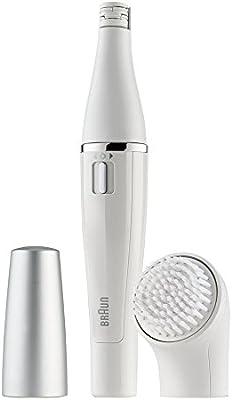 Braun Face 810 - Depiladora y cepillo de limpieza facial con micro-oscilaciones, recargable