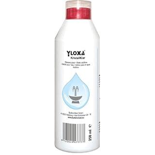 Yloxa KRISTALLKLAR - Wasserzusatzkonzentrat für Brunnen, Wasserwände, -säulen, -kaskaden und Vernebler im Innen- und Außenbereich - 250 ml Flasche