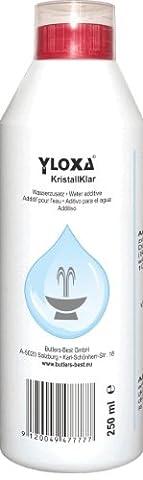 Yloxa KristallKlar – Additif concentré pour l'eau des fontaines, murs, colonnes, cascades et brumisateurs d'eau pour l'intérieur et l'extérieur – flacon de 250 ml - Sopra Giochi D'acqua