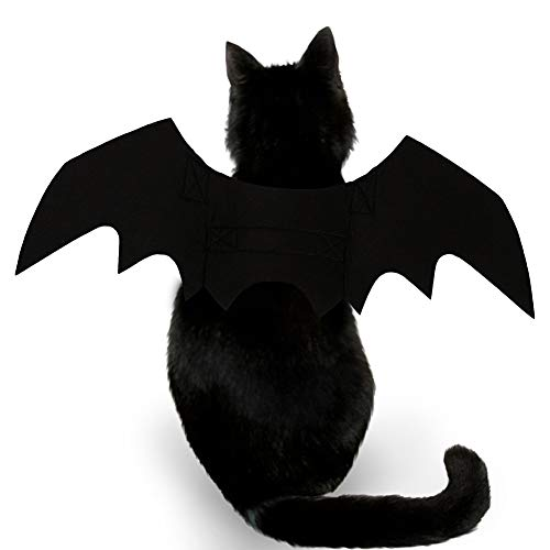Cool Batman Kostüm - CHIRORO Halloween Haustier Bat Wings Kostüm Hund Katze Cool Batman Outfits Cosplay Party Kleidung