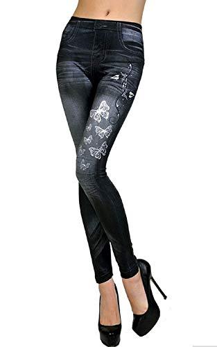 Inception Pro Infinite L2 - Leggings para Mujeres - Tipo de Jeans - Estampado - Mariposas - Talla única -