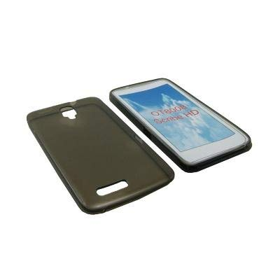 CUSTODIA GEL TPU SILICONE per ALCATEL ONE TOUCH SCRIBE HD, 8008 COLORE NERO