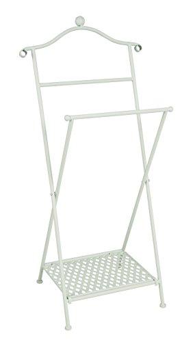 HAKU Möbel Herrendiener, 35 x 46 x H: 98 cm, weiß gekälkt