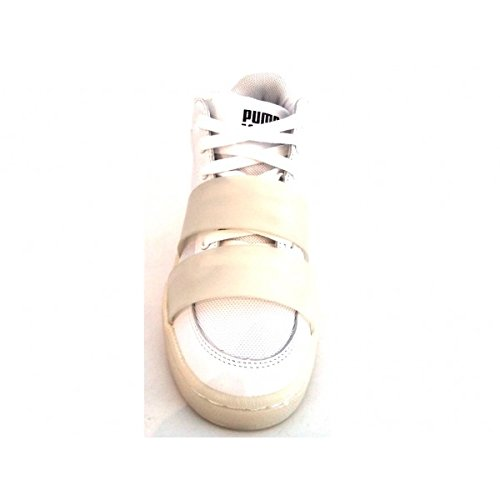 PUMA MCQ Sert MID NU 359761 02 Baskets Mode Femme - Blanc Cassé - Blanc, EUR 39 EU