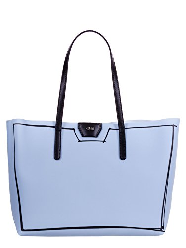 GUM BY GIANNI CHIARINI BORSA SHOPPING GRANDE LATTICE AZZURRO
