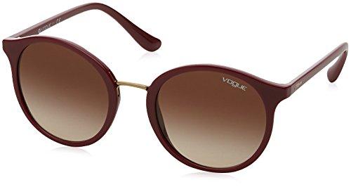 Vogue Eyewear Damen 0VO5166S 256613 51 Sonnenbrille, Rot (Dark Red/Browngradient),