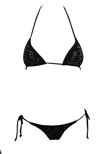 Tamari Beachwear Damen Bikini-Set Schwarz Schwarz Schwarz - Schwarz