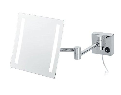 Nicol Olivia LED Wandspiegel 4026000 Kosmetikspiegel Beleuchtung 5-Fach Vergrößerung Ausklappbar,...