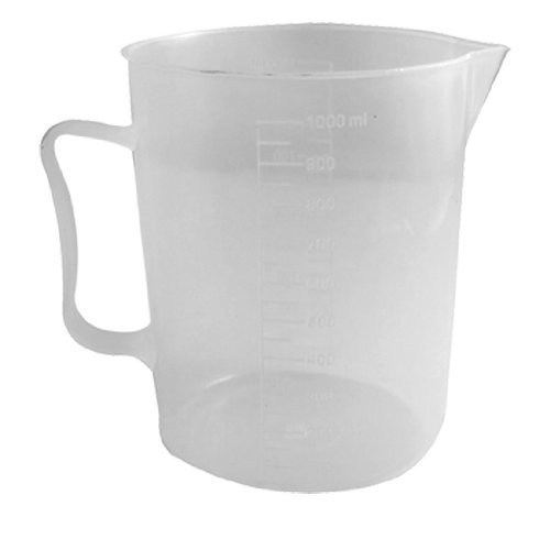 Trasparente Bicchiere - TOOGOO(R) 1000 mL Capacita' Plastica Laboratorio Becher Trasparente