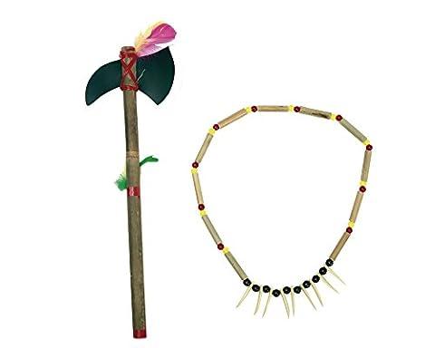 Collier et lance d'indien (Kostüm D'indien)