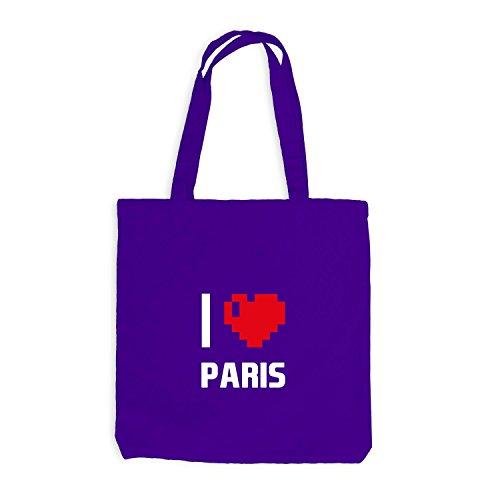Heart Reisen Frankreich Paris Pixel Violett I Herz Love Jutebeutel wZqY7xHY