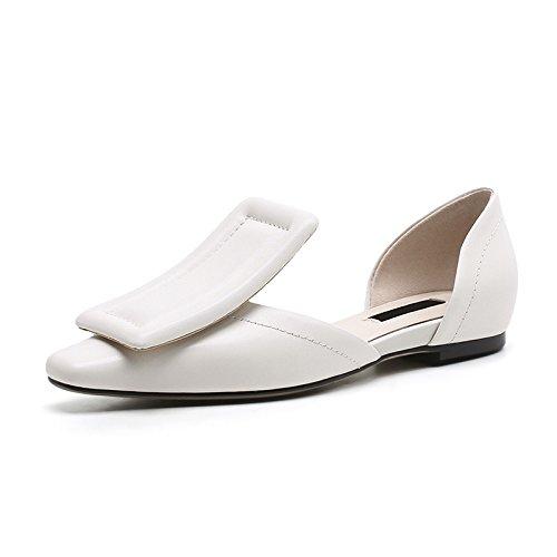 CXKS® Sandales Femmes Charme Daim Sandale Plate Occasionnels D'Été Chaussures Faits Main