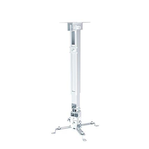 conecto CC50281 Deckenhalterung für Beamer, neigbar,Traglast: max. 20,0kg, universeller Montagebereich: 225-316 mm, weiß