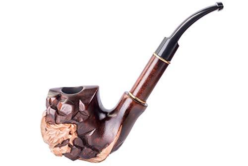 Dr. Watson - Tabakpfeife - Drachen auf dem Felsen - Hand geschnitzt, Birne Holz (9mm Filter) -