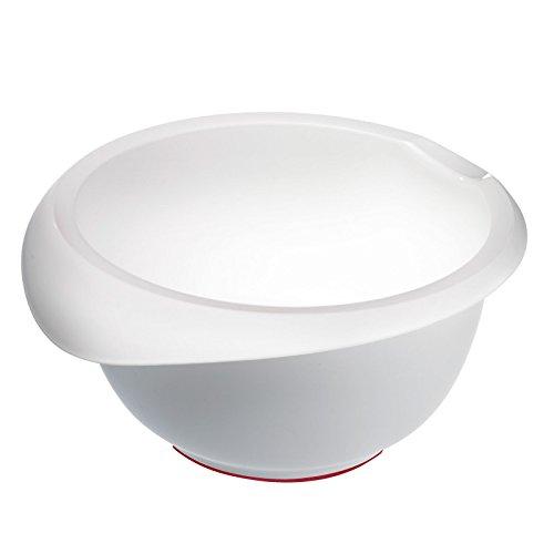 Westmark Rühr-/Backschüssel mit Ausgießer, Kunststoff, Füllvolumen: 2,5 Liter, Weiß, 3152227W