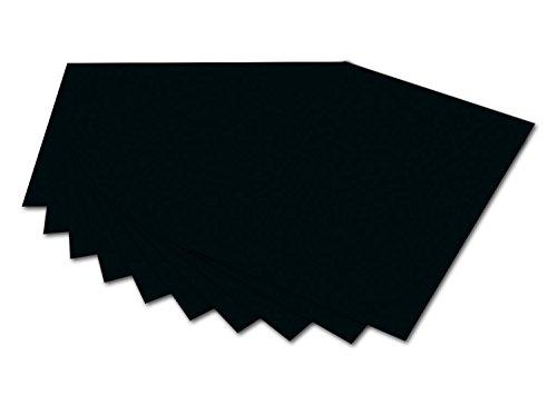 folia 6190 Fotokarton (50 x 70 cm, 300g, 10 Bogen) schwarz