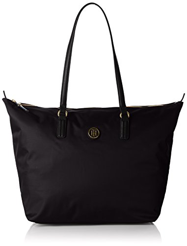 Tommy Hiliger Poppy Tote, Bolso para Mujer, Black, OS