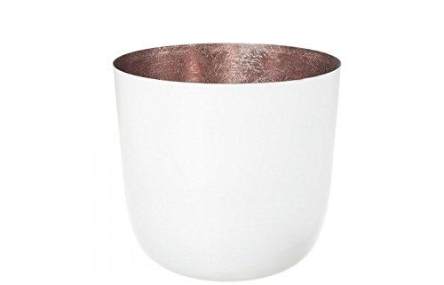 Gift Company Windlicht Kerzenhalter für Teelichter Kerzenleuchter Madras, Windlicht, Weiss/rosé, L