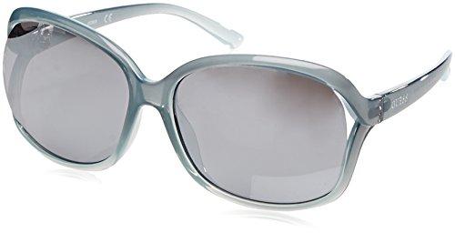 GUESS GF0286, Gafas de Sol para Mujer, Azul (Blue/Trasparente), 66