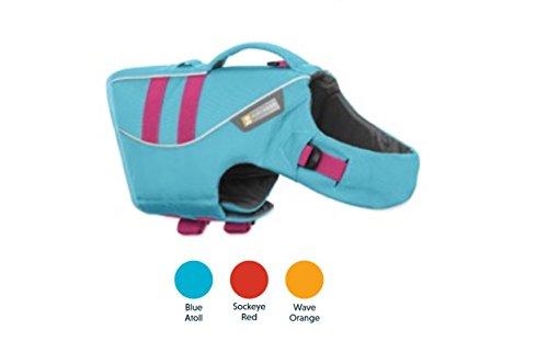 Ruffwear Schwimmweste für Hunde, Miniatur Hunderassen, Größenverstellbar, Größe: XXS, Blau, Float Coat, 45102-409S2