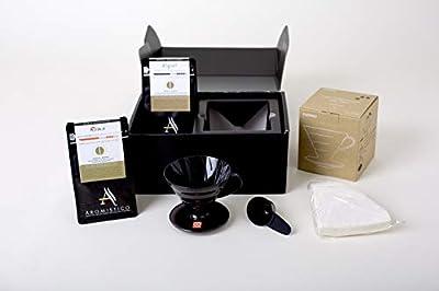 AROMISTICO Coffee | Hario V60 and 2 x Gourmet Coffee Brewer Gift Set | Premium Italian Artisan Coffee Blends | Coffee Hamper by Arca S.r.l