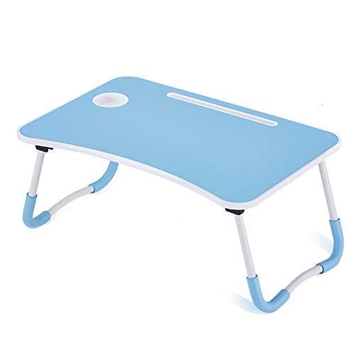 e Dorm Desk Schlafsaal Mit Kleinem Schreibtisch Bett Mit Laptop-Tisch Klapptisch Kleiner Schlafsaal Mit Cup Slot Slot 60 × 40cm,Blue ()