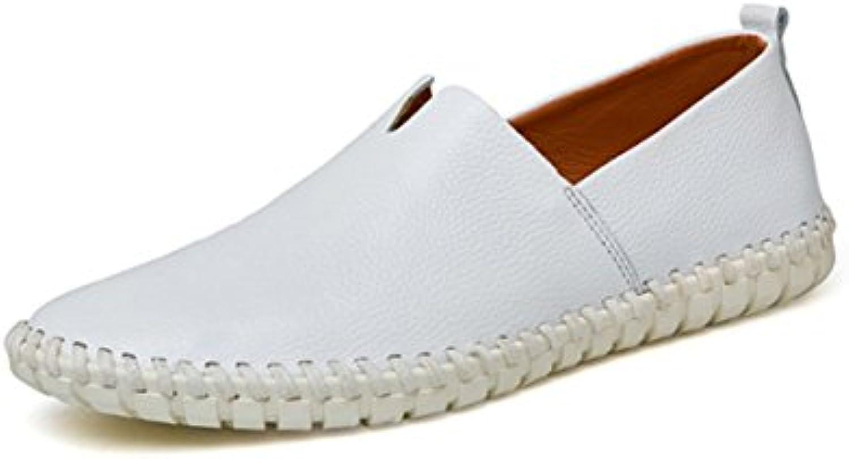 LYZGF Männer Jugend Geschäft Freizeit Flacher Mund Füße Mode Faul Lederschuhe