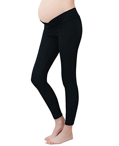 Leggings de maternité Taille basse Pantalon de grossesse ventre Pour les femmes enceintes et les femmes post-partum Thin Maternité Pantalons Vêtements Leggings Keephen