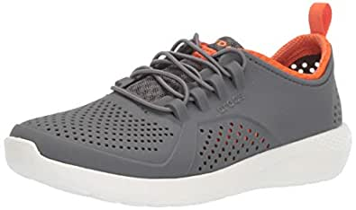 crocs Unisex's Charcoal/White Sneakers-4 UK (J4) (206011-04O)