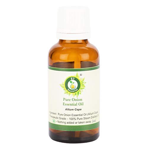 R V Essential Reines Zwiebel Ätherische Öl – Allium Cepa (100% reiner und natürlicher Dampf destilliert) Pure Onion Essential Oil