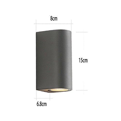 GBYZHMH Outdoor Wand Lmap wasserdicht IP54 Outdoor Wand Beleuchtung LED Wandleuchte Balkon LED Wandleuchte schwarz grau (Farbe: C 15 CM)