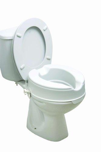 Drive Medical 12064RETAIL Toilettensitzerhöhung/Toilettenaufsatz ohne Deckel, 10cm