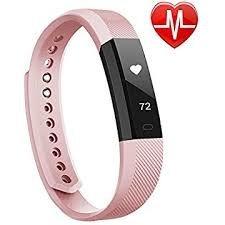 Torus Pro, Fitness-Tracker, Very Fit, Pulsmesser, Schrittzähler und Kalorienzähler, rosaDieses Sportzubehör ist mit iPhone und Android-Telefonen kompatibel.
