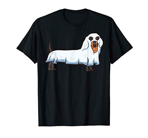 Kostüm Ghost Spooky - Ghost Dackel Spooky Hund Wiener Halloween-Kostüm T-Shirt