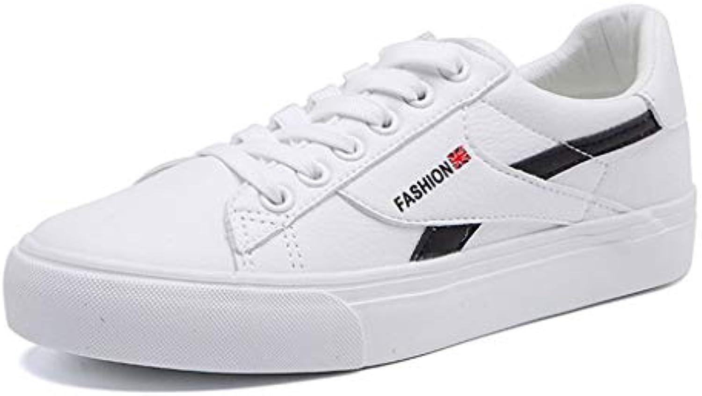 Blanc Sneakers Automne Élégant Plat Plat Plat Dentelle Chaussures Casual Chaussures Femme Unique Style CollegeB07GCL63K1Parent 5362f5