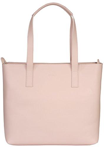 StilGut Business Shopper | Viktoria, Handtasche für Frauen aus weichem Kalbsleder, altrosa