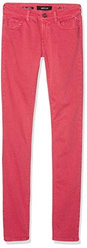 Replay Damen Skinny Jeans Luz, Rot (Pale Red 654), W27/L32