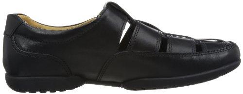 Clarks Recline Open, Chaussures de Ville Homme Noir (Black Leather)