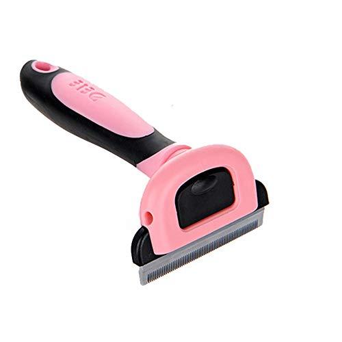 KTYX Make-up-Entferner Cat Brush Beauty Tool Abnehmbare Schere Zubehör Pet Trim Kamm Katze Heimtierbedarf Haustierzubehör (Farbe : Pink, größe : M)