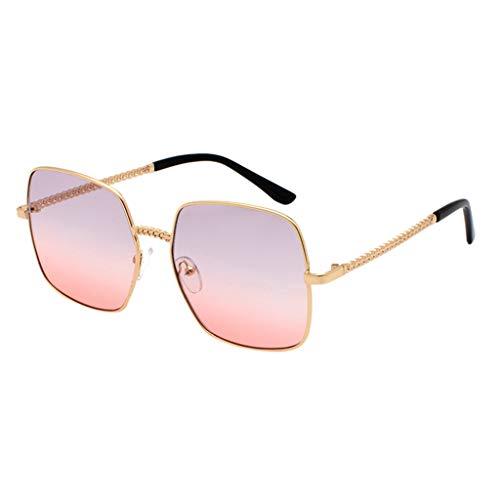fazry Herren Damen Polarisiert Sonnenbrille Metallrahmen Mode Brille Brillen(Wassermelonenrot)