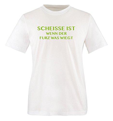 Scheisse ist - Wenn der Furz was wiegt - Kinder T-Shirt - Weiss/Grün Gr. 98-104 - Riechen Fürze