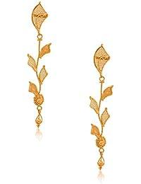 Senco Gold Aura Collection 22k Yellow Gold Drop Earrings