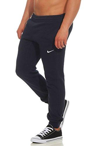 Nike Herren Fleece Tapered Swoosh Club Cuff Pant Farbe: Dunkelblau; Größe: S Nike Fleece-sweatpants