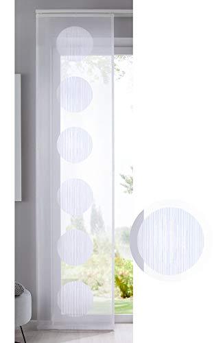 Shangrila Flächenvorhang »Balikesir« Kreise Muster Schiebegardine Raumteiler Querlinien Wohnzimmer Kugel Ball HxB 245x60 cm Weiß, 10000316 (Raumteiler Kreis)