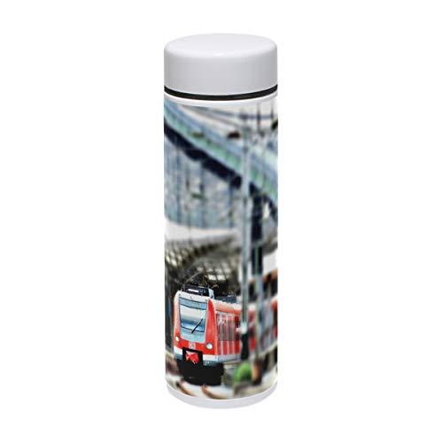 MUOOUM City Building Train Vakuum-Isolierter Edelstahl-Reisebecher Sport-Wasserflasche 19,1 ml heiß für 12 Stunden